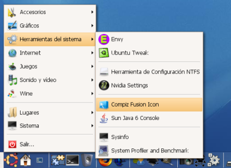 CompizFusionIcon - Menu :)